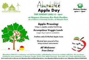 - A -Abundance Apple Day - 18th October 2015 12-5pm - Hogacre Common Eco Park - Posterjpg -- -
