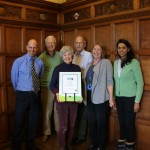 Members of the Oxford Fairtrade Coalition with the Fairtrade City Certificate