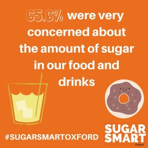 65.6% were very concerned about the amount of sugar in our food and drinks