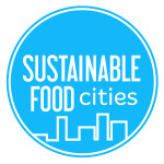 Sustainable Food City Logo Cyan Small