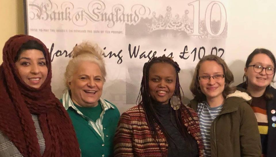 Sisters! Fight for the Living Wage campaign members